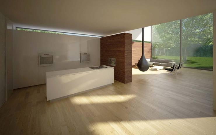 Woonhuis LVDO Eindhoven :  Keuken door 2architecten, Modern