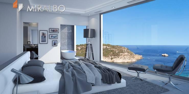 Villa Onyx: moderne Schlafzimmer von Miralbó Excellence