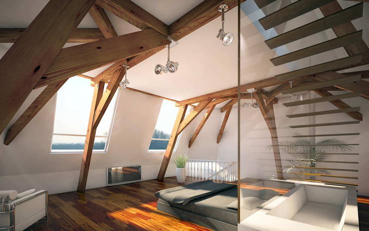 Penthouse TEMW Utrecht : moderne Slaapkamer door 2architecten