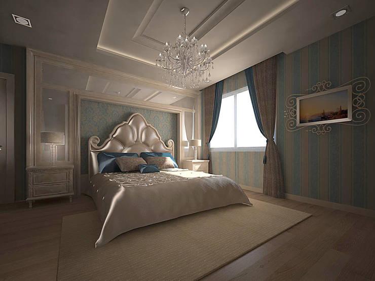 RUBA Tasarım – A.Ç. EVİ:  tarz Yatak Odası