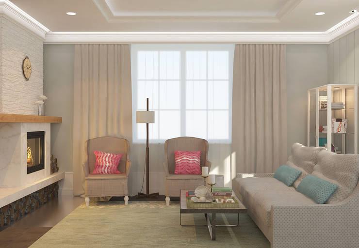 Salon de style de style eclectique par Brama Architects