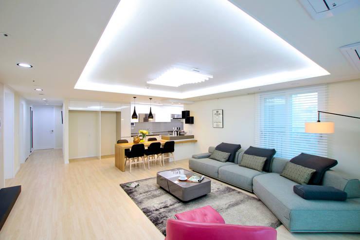 Salones de estilo  de dual design, Moderno
