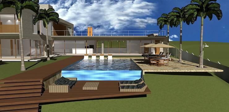 casa hc: Piscinas  por grupo pr | arquitetura e design