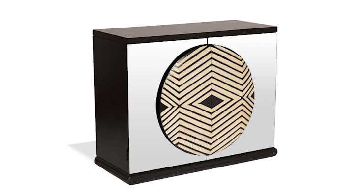 Zulu Mirror Cabinet:  Living room by Square Barrel
