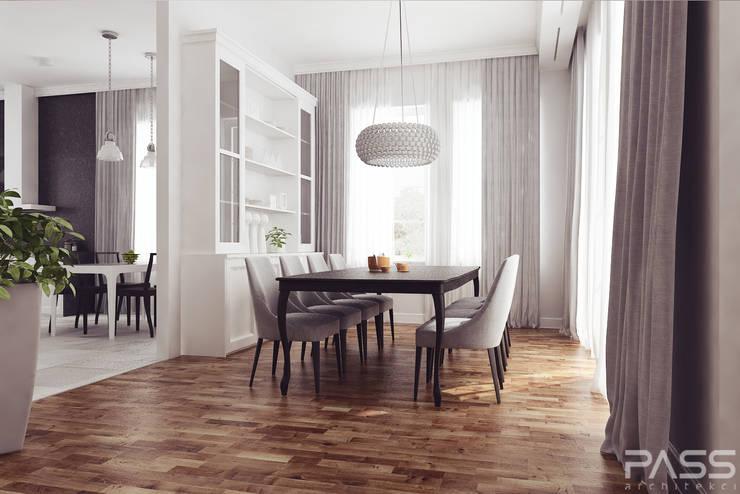 Projekt wnętrza w Lublinie /1: styl , w kategorii Jadalnia zaprojektowany przez PASS architekci