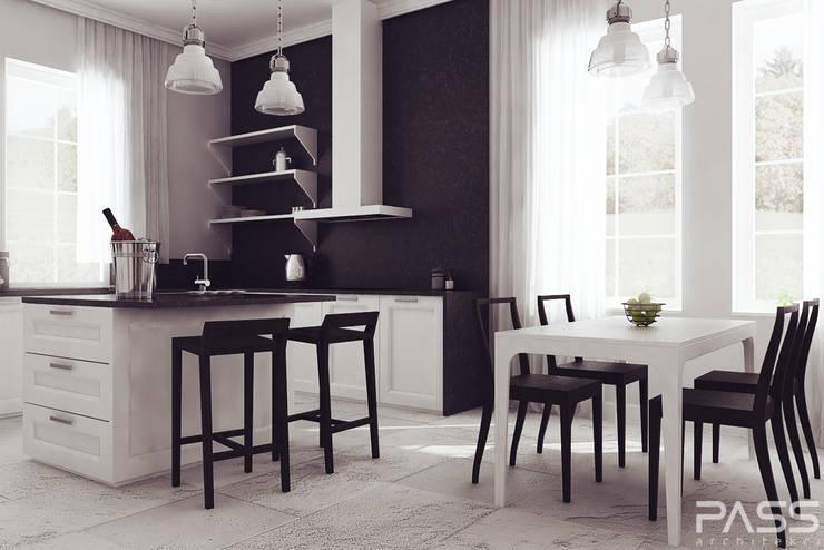 Projekt wnętrza w Lublinie /1: styl , w kategorii Kuchnia zaprojektowany przez PASS architekci,Nowoczesny