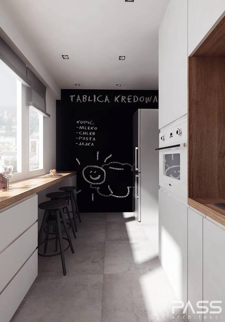 Projekt wnętrza w Białymstoku: styl , w kategorii Kuchnia zaprojektowany przez PASS architekci