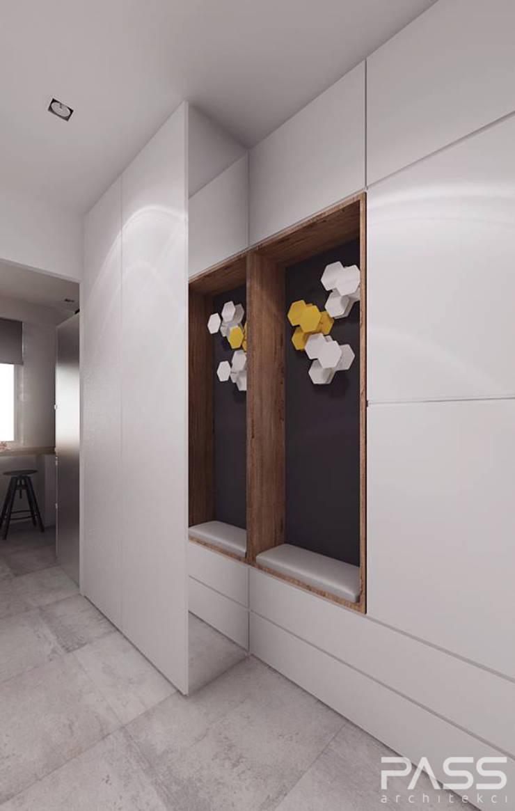 Projekt wnętrza w Białymstoku: styl , w kategorii Korytarz, przedpokój zaprojektowany przez PASS architekci