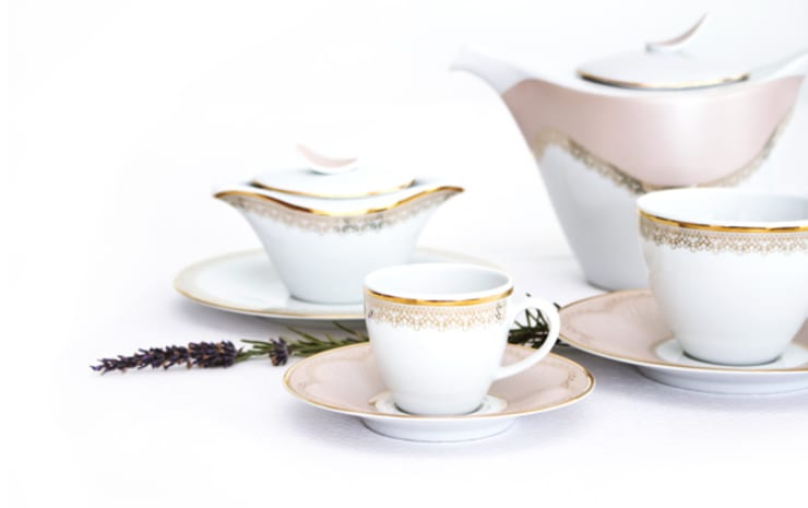 Grace: Sala de jantar  por Porcel - Indústria Portuguesa de Porcelanas, S.A.