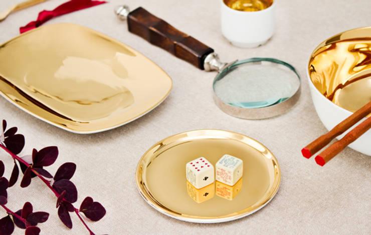 Full Gold e Full Platinum: Sala de jantar  por Porcel - Indústria Portuguesa de Porcelanas, S.A.
