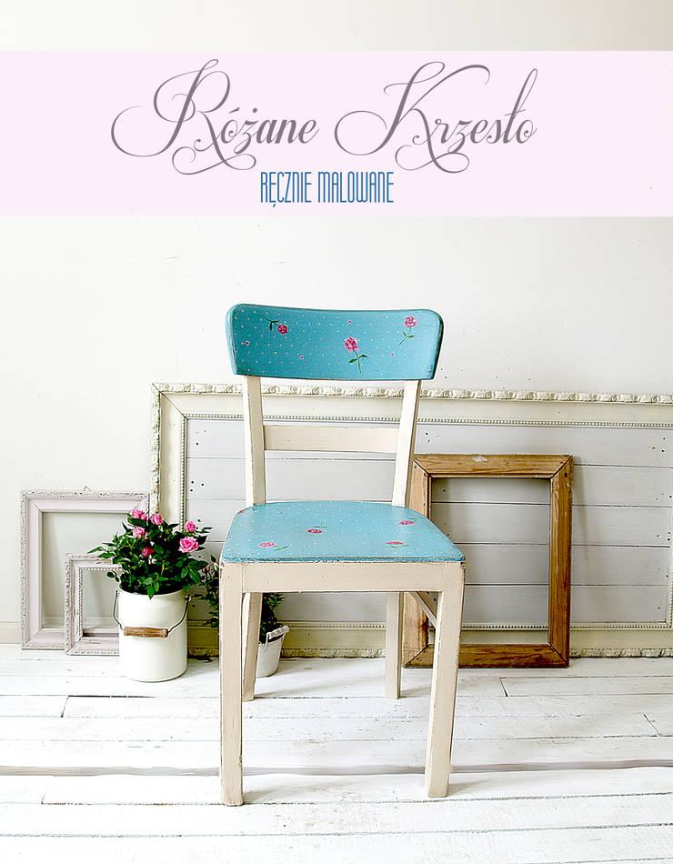 Różane Krzesło: styl , w kategorii Jadalnia zaprojektowany przez Treefabric