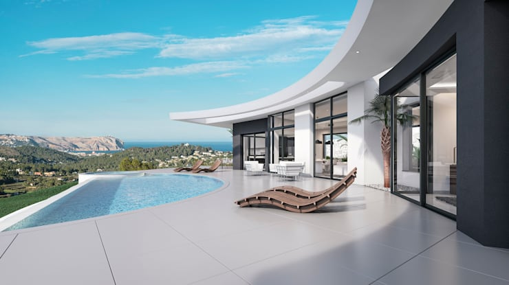 Villa Siro Modern Terrace by Miralbo Excellence Modern