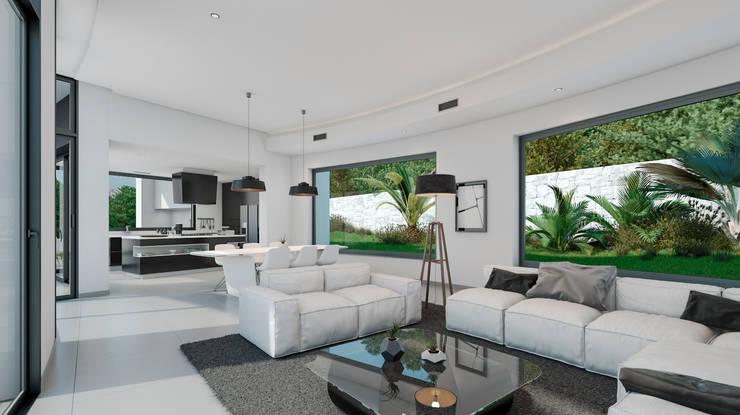 Villa Siro Modern Living Room by Miralbo Excellence Modern