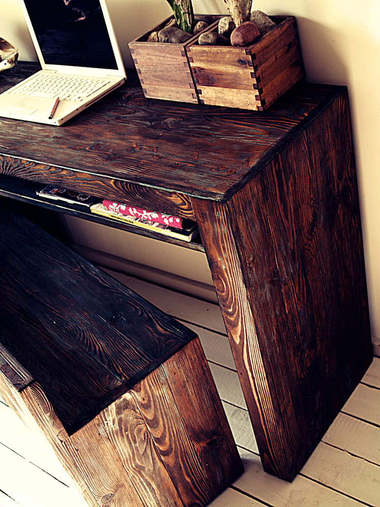 Drewniana Konsolka: styl , w kategorii Korytarz, hol i schody zaprojektowany przez Treefabric,