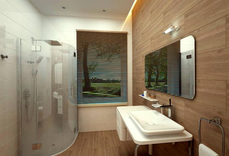 Ванная комната: Ванные комнаты в . Автор – Бюро9 - Екатерина Ялалтынова