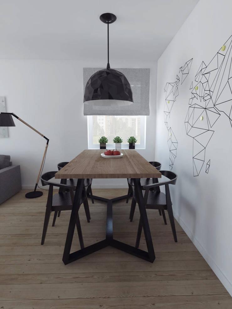 Projekt wnętrza w Lublinie /3: styl , w kategorii Jadalnia zaprojektowany przez PASS architekci