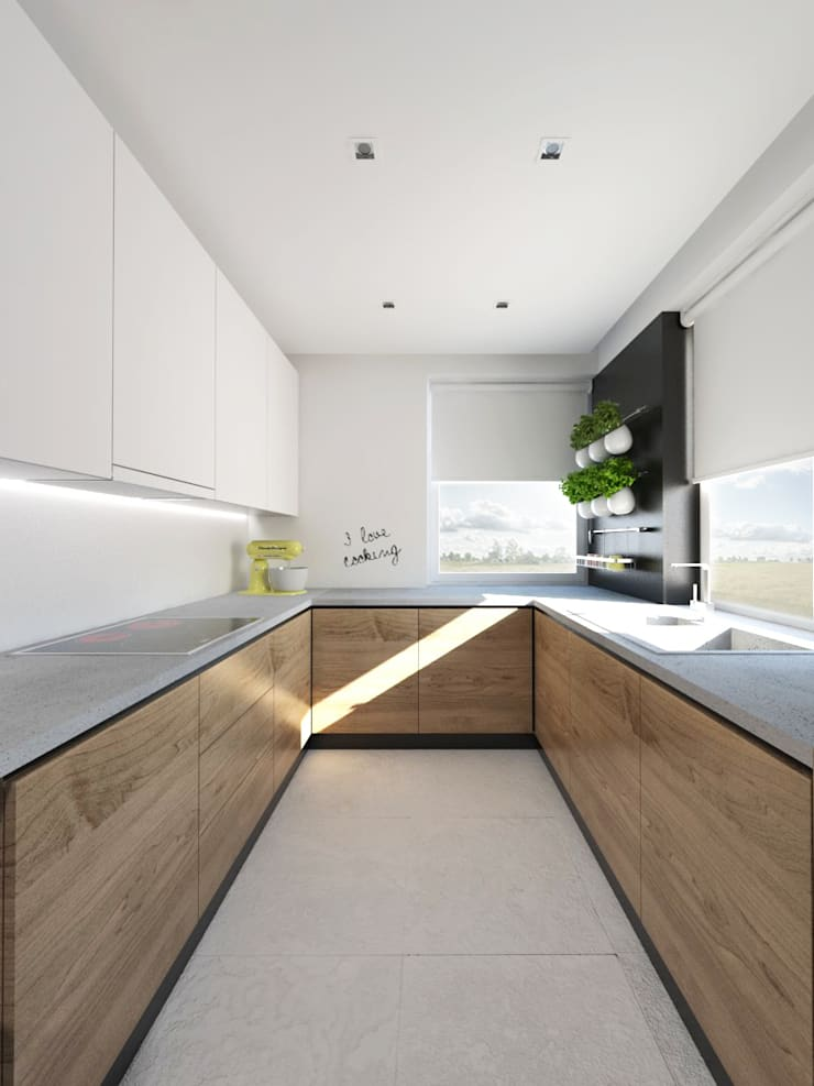 Projekt wnętrza w Lublinie /3: styl , w kategorii Kuchnia zaprojektowany przez PASS architekci