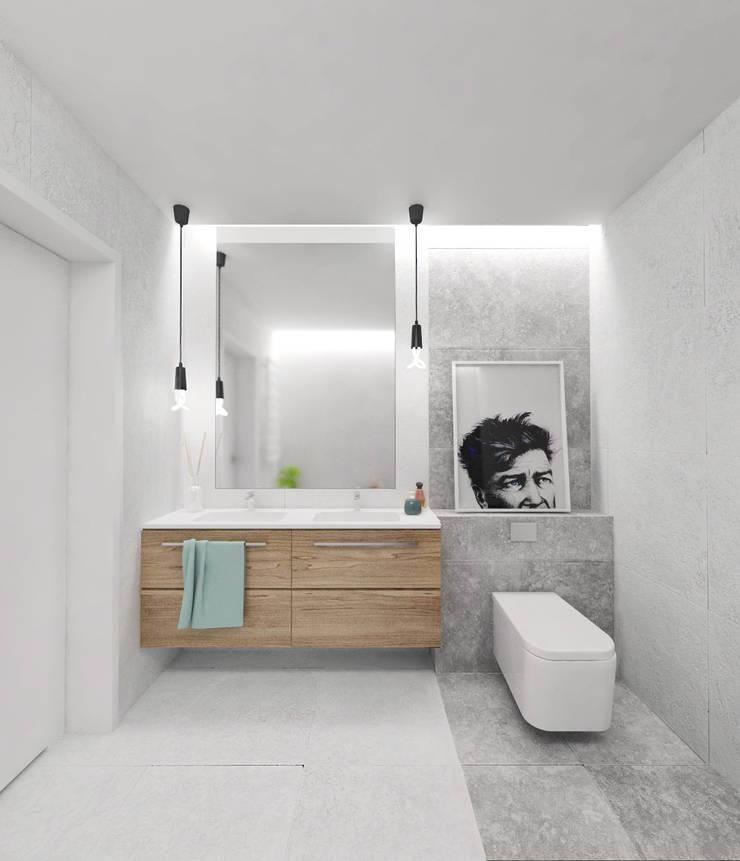 Projekt wnętrza w Lublinie /3: styl , w kategorii Łazienka zaprojektowany przez PASS architekci