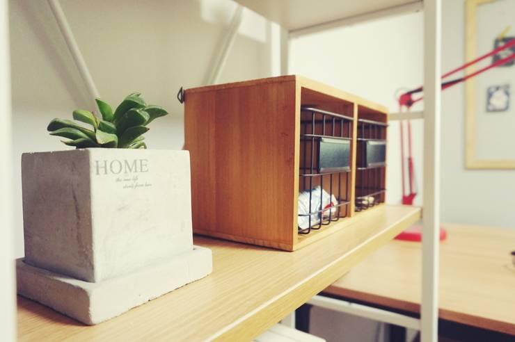 30평대 신혼집 홈 스타일링 : homelatte의  서재 & 사무실