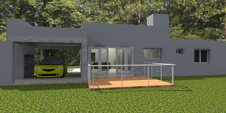 Vivienda Unifamiliar – 90 m² – Zona Villa Carlos Paz: Casas de estilo  por Arq. Barale Guillermo