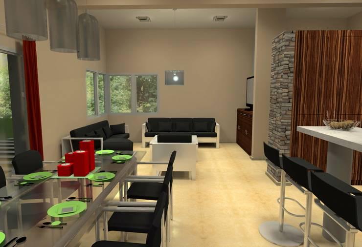 Vivienda Unifamiliar – 90 m² – Zona Villa Carlos Paz: Comedores de estilo  por Arq. Barale Guillermo
