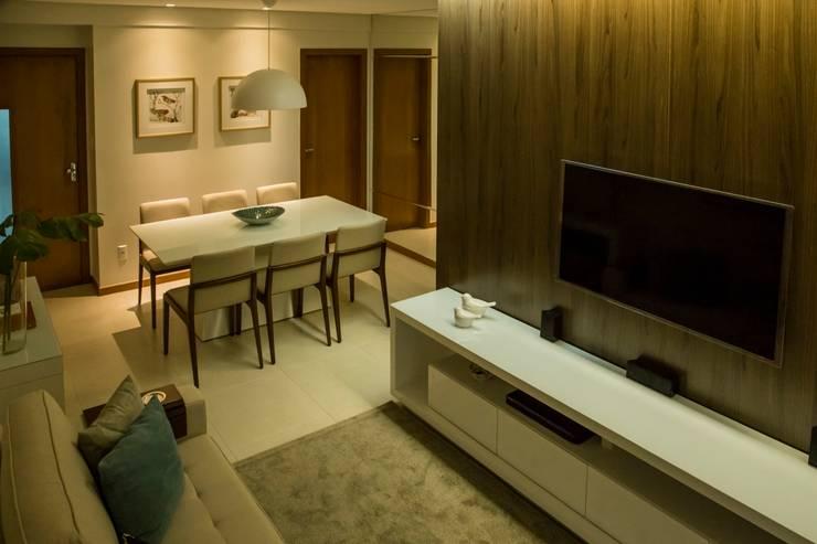 Foto 04 - Living Apartamento A+B: Salas de estar  por abmaisarquitetos