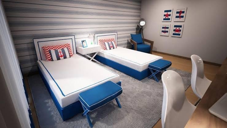 Navy Room: Quartos de criança  por Ângela Pinheiro Home Design