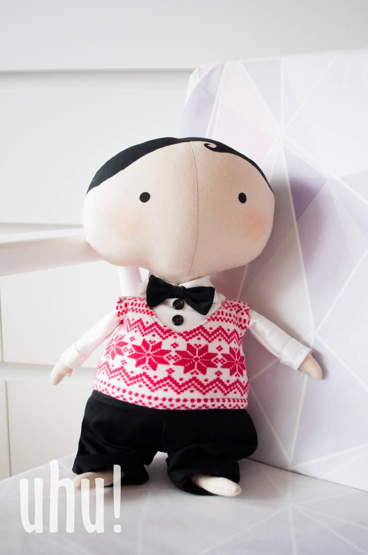 Mieciu - Tilda Sweetheart świąteczna lalka: styl , w kategorii Pokój dziecięcy zaprojektowany przez uhu!