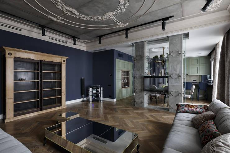 Квартира на Морском проспекте: Гостиная в . Автор – Юдин и Новиков