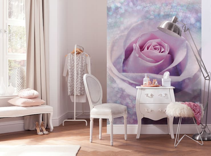 Fotomurales para decorar tu hogar: Recámaras de estilo  por DeColor