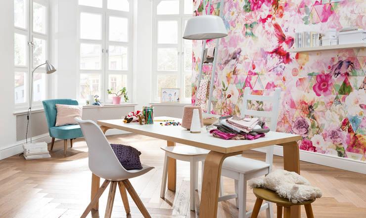 Fotomurales para decorar tu hogar: Estudios y oficinas de estilo  por DeColor