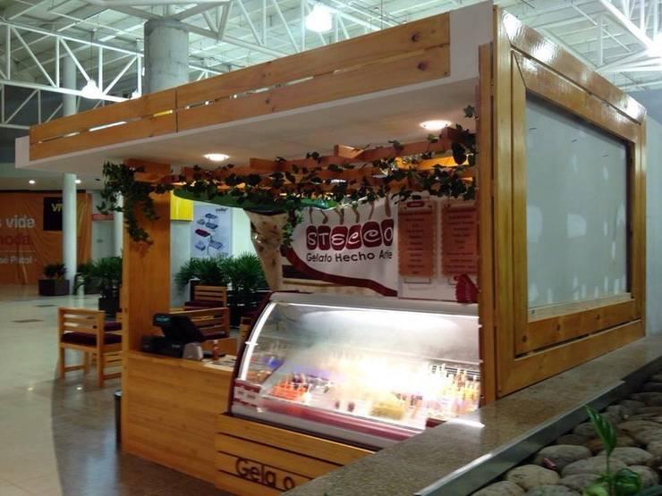 Muebles Punto de Pago. POS en Madera: Oficinas y tiendas de estilo  por JVR  Madera Y Diseño