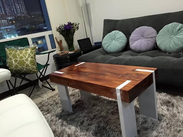 Mesas Personalizadas en Madera para espacios interiores y comedor :  de estilo  por JVR  Madera Y Diseño, Moderno Madera maciza Multicolor