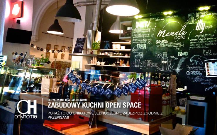 Widok ogólny na open space od OnlyHome Nowoczesny