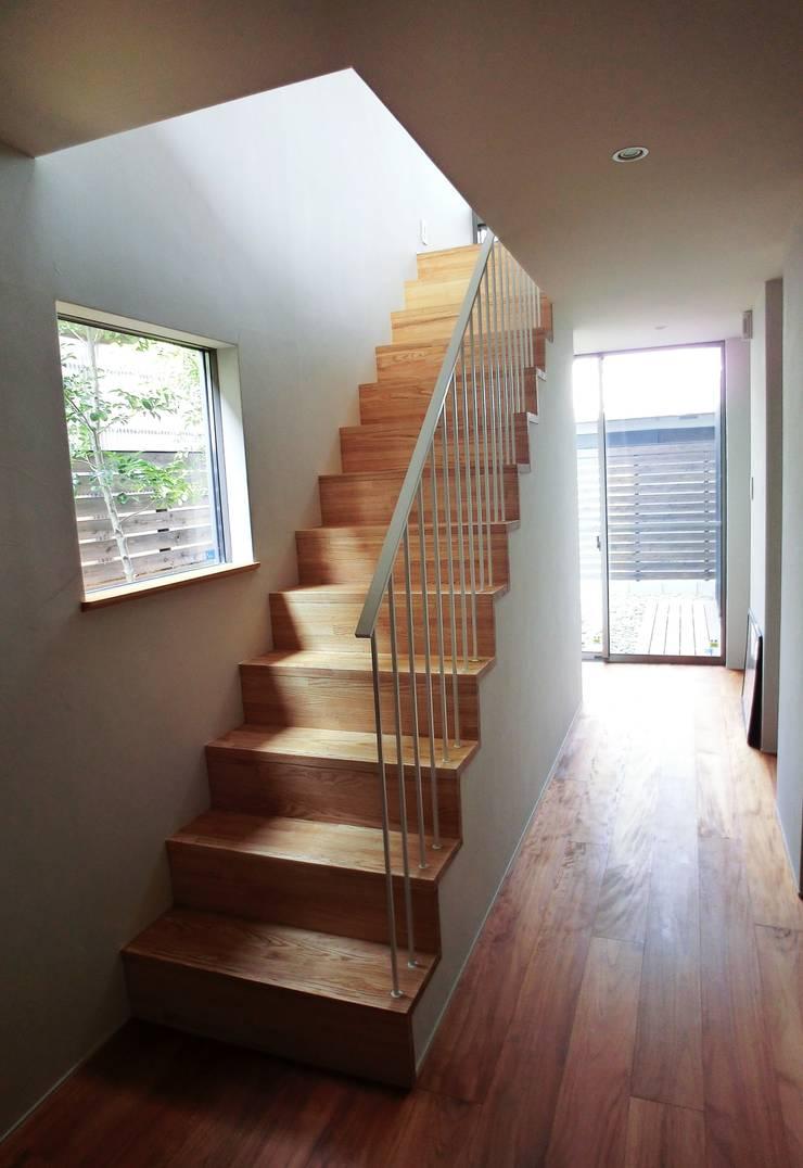 House in Matsugasaki: Mimasis Design/ミメイシス デザインが手掛けた廊下 & 玄関です。