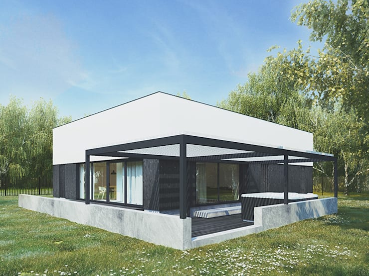 Dom nad jeziorem: styl , w kategorii Domy zaprojektowany przez 081 architekci