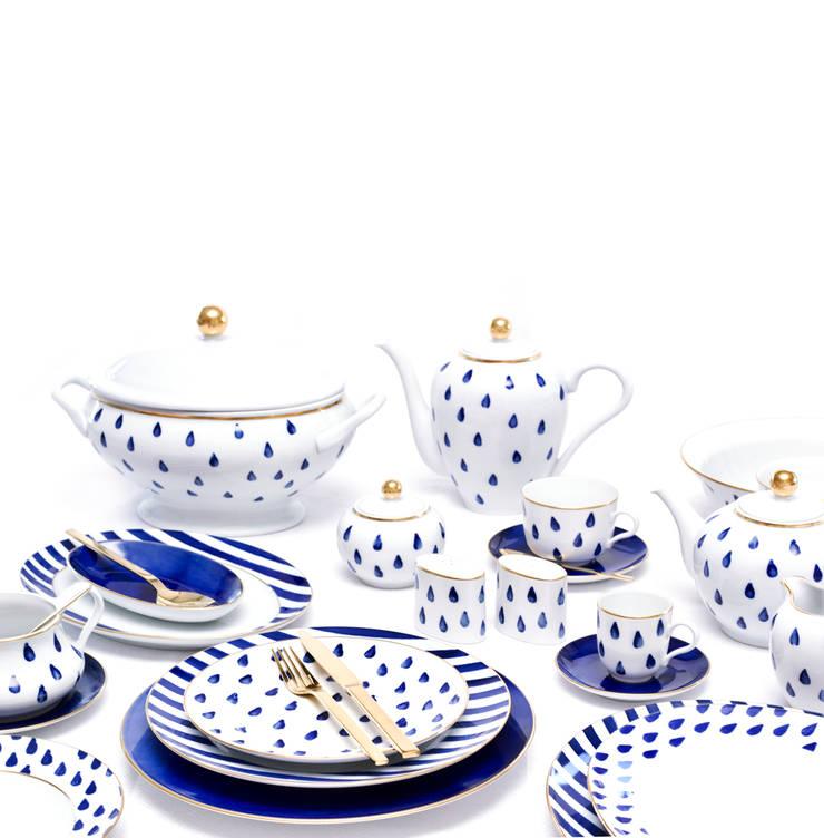 Atlantico: Sala de jantar  por Porcel - Indústria Portuguesa de Porcelanas, S.A.