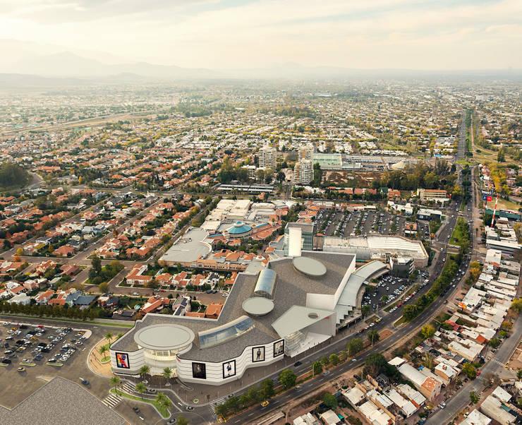 POM - Palmares Shopping Mall: Shoppings y centros comerciales de estilo  por Brunzini Arquitectos & Asociados