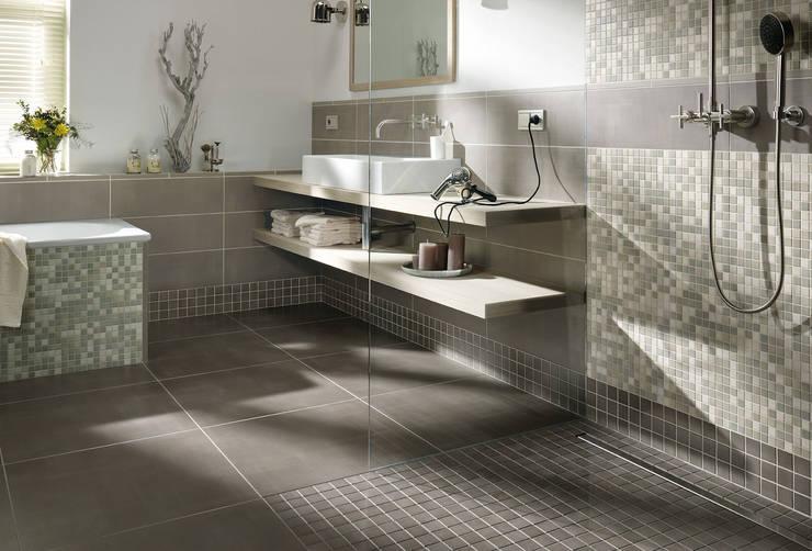 Anti Slip Mosaic Tiles:  Bathroom by The Mosaic Company