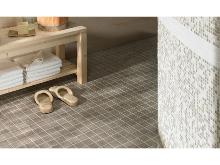 Jasba Glazed Mosaic Tiles:  Bathroom by The Mosaic Company