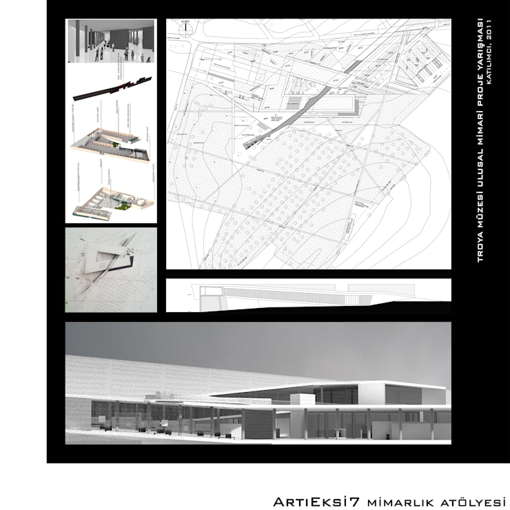 ArtıEksi7 Mimarlık Atölyesi – Troya Müzesi Ulusal Mimari Proje Yarışması, 2011:  tarz