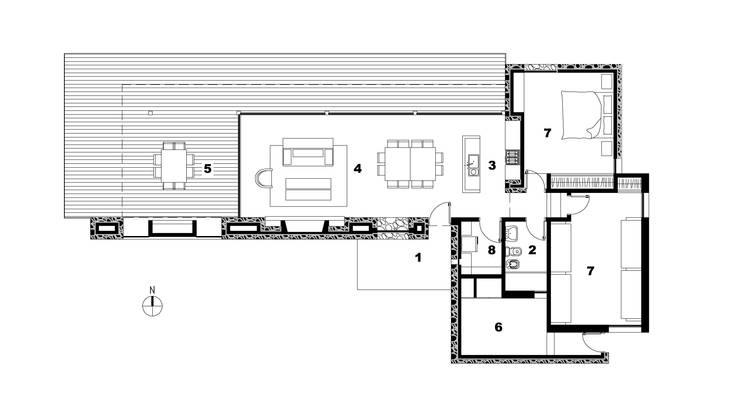 CASA TORO MUERTO: Casas de estilo  por LN-arquitectura