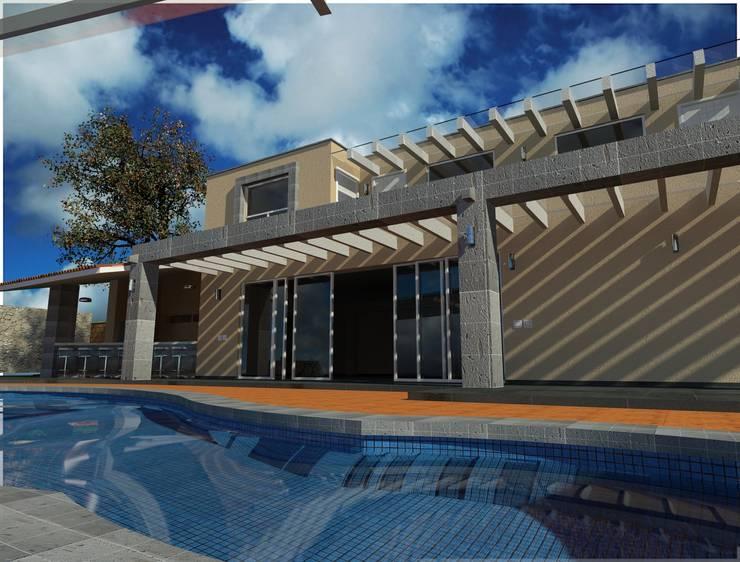 Terraza alberca: Albercas de estilo  por CESAR MONCADA S