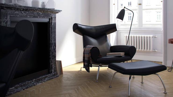 minimalistische Woonkamer door Artur Akopov