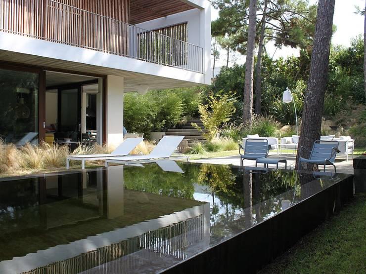 Aménagement d'un jardin de particulier au Cap Ferret: Piscines  de style  par NL-PAYSAGE- PAYSAGISTE DPLG