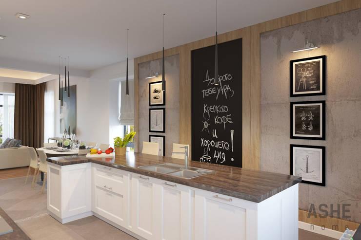 Лофт в Акбердино: Кухни в . Автор – Студия авторского дизайна ASHE Home