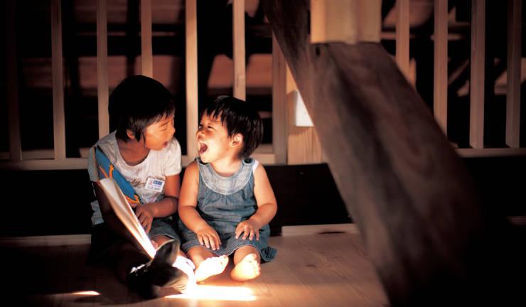 おばあちゃんが住んでいた離れ(古民家)をリノベーション: 株式会社粋の家が手掛けた子供部屋です。