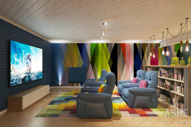 Лофт в Акбердино: Медиа комнаты в . Автор – Студия авторского дизайна ASHE Home