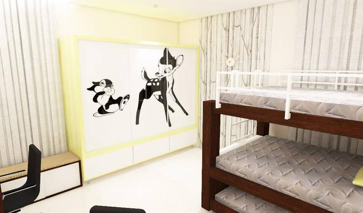 Children Bedroom:  Bedroom by colourschemeinteriors,Minimalist Plywood