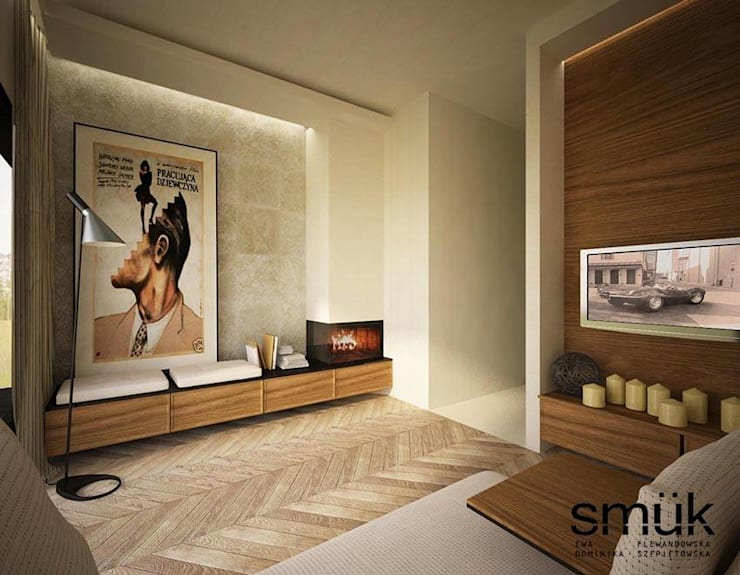 Salon: styl , w kategorii Salon zaprojektowany przez SMUK